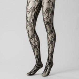 A New Day - Women's Rose Net And Striped Tights